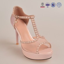 Women net perfect pattern diamond crystal high heel leather women pearl bling bling part sandals shoes footwear