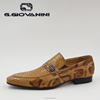 Soft G.GIOVANINI 2015 spring/summer design high-end mens leather Snake Print casual loafers hot sale men loafers