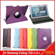 360 Rotating PU Leather Stand Case Cover For Samsung Galaxy Tab 2 10.1 P5113 P5100 P5110