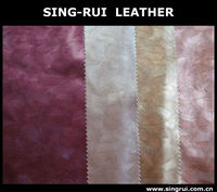 feather desgn pu leahter for shoes materials
