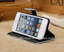 for 5/5s phone case wallet card-slot pu leather cell mobile phone case Stand Magnetic Case Cover for iPhone 5S