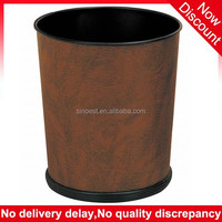 Best Price cone shape Leather Cover waste bin hotel room, mini garbage can