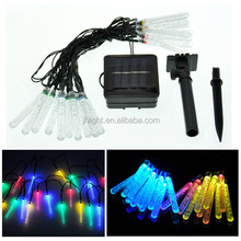 solar powered LED string light/multicolor bulbs/solar mini christmas tree light