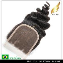 New Hot Natural 4x4 lace hair piece top closure loose wave brazilian human hair lace closure