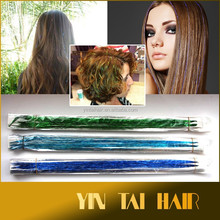 Party Bling Hair Extension Tinsel Hair Flair Bling Clip Hair Straight Hairpiece