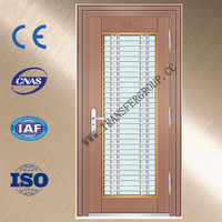 Stainless steel metal door inserts glass with various designs