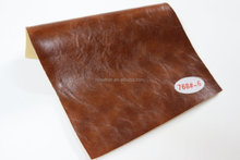 Hongjiu popular embossing craze horse pu synthetic leather