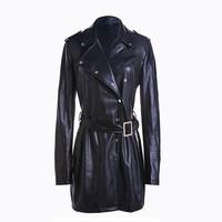 Latest design new winter wholesale long korean trench coat