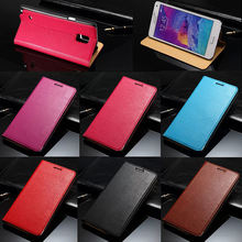 Real genuine leather case for samsung galaxy note 4, cover for samsung