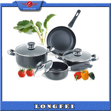 Yiwu Food culture 7pcs wholesale aluminium cooking pot set