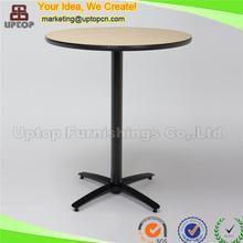 (SP-BT601) Round laminate wooden top used restaurant furniture pub tables