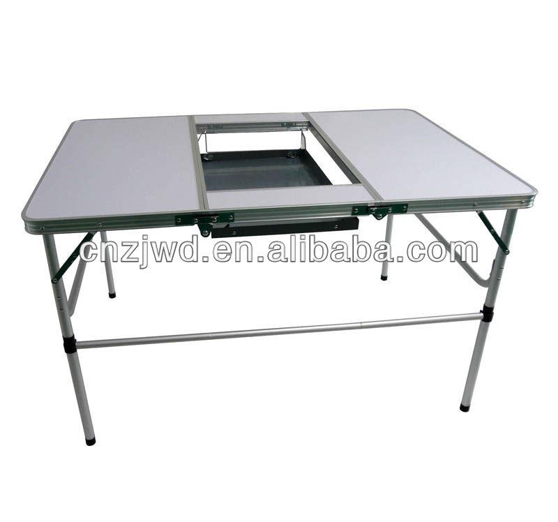 เกาหลีfoldabeบาร์บีคิวย่างบาร์บีคิวตาราง/โต๊ะพับที่ตั้งแคมป์
