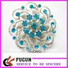 latest fashional flower rhinestone big brooches for wedding