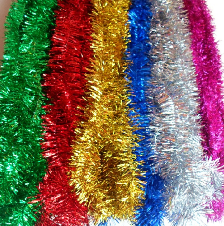 Christmas decoration ornament tinsel garland