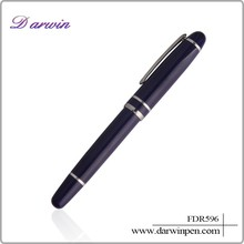 wire cutting design in black and white body metal ball pen and roller pen