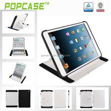 POPCASE 2014 new White color smart stand case for ipad mini 2