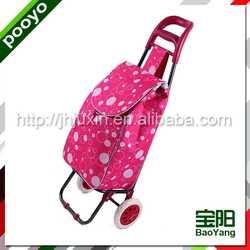 folding grocery cart bag metallic pu leather cosmetic bag