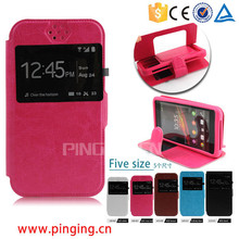 5 sizes universal case for smartphone, leather universal flip phone case with stand