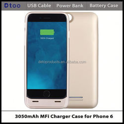 MFI Certified Colorful Wholesale External Battery Charger Backup Power Pack Cover Case for iPhone 6