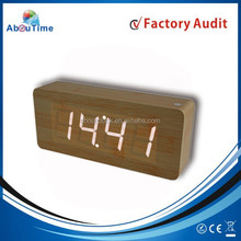 2015 Office modern wooden LED clock/desktop clock for sale