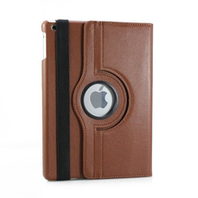 360 Degree Rotation Leather Case For iPad Series,For iPad Air 2 Leather Case