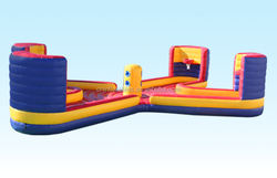 Inflatable 4 man X Tug & Dunk,2015 popular inflatable sport game from audiinflatables