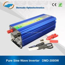 pure sine wave inverter DC 12v AC 220v 3000w lcd ups for notebook computer