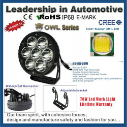 Auto Led work Light 70W offroad truck 4x4 suv atv, working light with CE E-mark Rohs cetifcation
