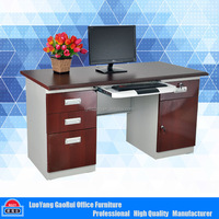 Luoyang Office Furniture Modern Stainless Steel Computer Desk