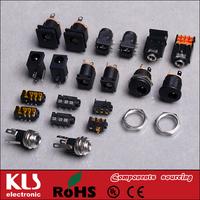 Good quality right angle DC power plug adapter UL CE ROHS 287 KLS
