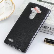 PU Leather Chrome Hard Skin Case For LG G4