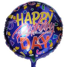 18 pulgadas feliz cumpleaños impreso foil balloons con velas