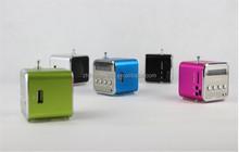Promotion Price Mini Speaker Cube USB TF Card FM Radio Mini Speaker TD-V26