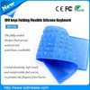 Transparent Waterproof dust proof Sealed silicone computer keyboard