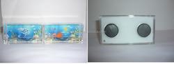 Custom Background Printed 3D floater Liquid fridge magnet photo frames