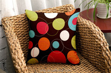 Colorful Diverse Size And Shaped Round Dot&Polygon Dazzling Pillow