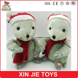 custom plush christmas musical toy soft talking mouse toy stuffed singing hamster toy