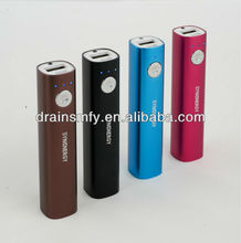 Aluminum case & Led light Power bank for mobile phone