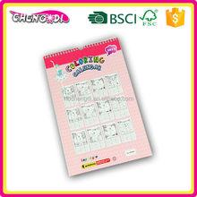 Popular A4 customizable large digital wall calendar clocks