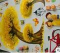 3D de dibujos animados niños habitación pegatinas de pared decorativos pegatinas adheridas árboles de arce amarillo