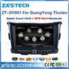 ZESTECH OEM 2 din Autoradio with GPS for SSANG YONG Tivolan car dvd player with bluetooth fm am usb sd all in functions