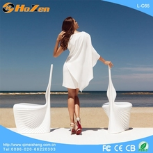 Supply all kinds of fish tank LED chair,orange plastic LED chair