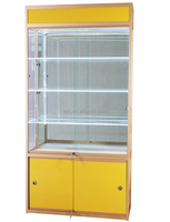 China Goods Wholesale classic design mdf material nail polish display case in fashion shop