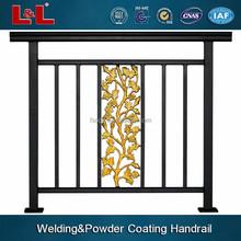 Hot! OEM power coated aluminium handrail, edge guard rectangular hollow section