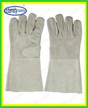 Your success is our business Welding glove with leather GRADE A/AB/BC manufacture