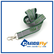 HIgh quality customer logo fluorescent lanyard with metal hook
