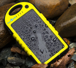 5000mAh solar controller charger with CE/FCC/ROHS/Waterproof IP4/MSDS certification