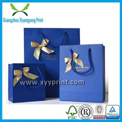 Tote hot stamping jewelry paper shopping bags for women