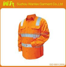 Safety shirt 100 % cotton Long sleeves anti-uv work safety shirts