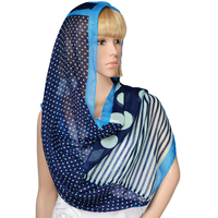 Fashion young tube scarf cheap infinity scarf with printed stripe and polka dot design
